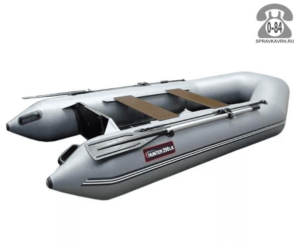 Лодка надувная Hunterboat Хантер 290 ЛК, серый 290091