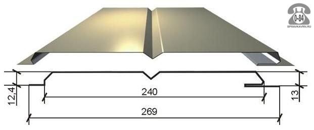 Сайдинг Металл Профиль (МП) L-брус полимерное слоновая кость
