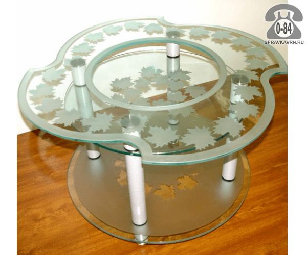 Столы сервировочные стекло