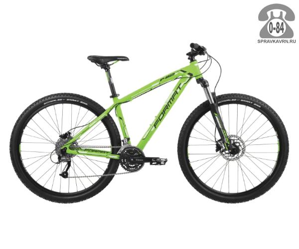 "Велосипед Формат (Format) 1412 29 (2017) размер рамы 21.5"" зеленый"