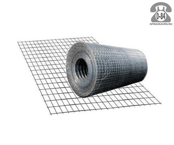 Строительная сетка диаметр 4мм  ячейка 100x100мм ширина 0.5м