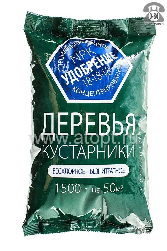 Удобрение минеральное Летто (Letto) комплексное азотно-фосфорно-калийное для деревьев и кустарников 1500 г Россия