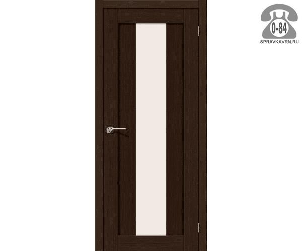 Межкомнатная деревянная дверь ЭльПорта, фабрика (el PORTA) Порта-25 alu Magic Fog остеклённая 60 см Венге Вералинга (Wenge Veralinga)
