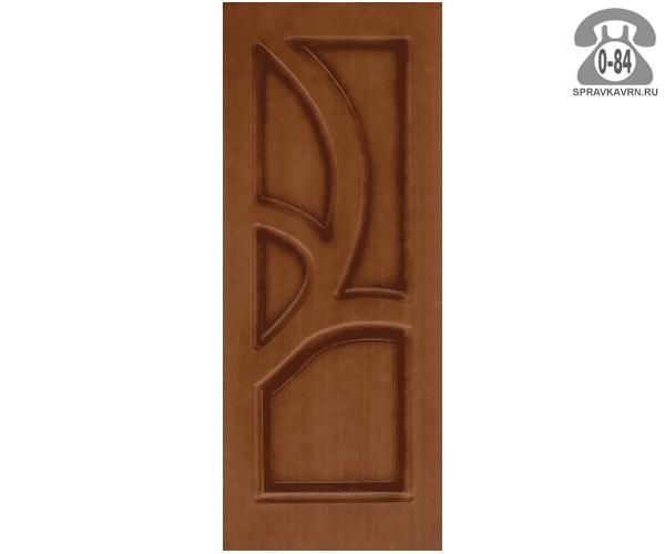 Межкомнатная деревянная дверь Левша, фабрика Грация глухая (без стекла) 70 см орех