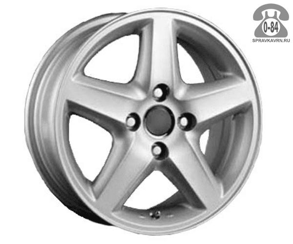 """Диск РВ (Racing Wheels) H-125 14"""" ширина 6"""" крепежных отверстий 4 диаметр расположения отверстий 114.3 мм вылет колеса (ET) 35 мм диаметр центрального отверстия 67.1 мм"""