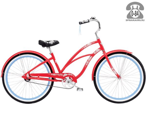 """Велосипед Электра (Electra) Cruiser Hawaii 3i Ladies (2016) размер рамы 17"""" красный"""