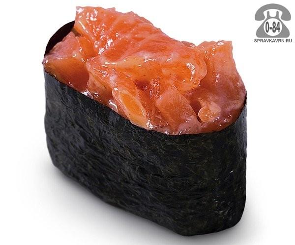 Суши Спайси сякэ гункан спайс с лососем 30 г на дом