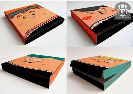 Коробка упаковочная Симплпак картон гофрированный (гофрокартон, гофрокороб) для пиццы треугольная
