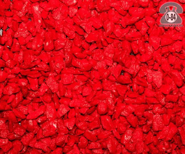 Щебень СтройБаза (Склад тротуарной плитки) гранитный 5 мм 20 мм окрашенный (цветной) мешок декоративный