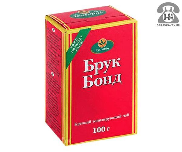 Чай Брук Бонд (Brook Bond) чёрный 100 г Россия