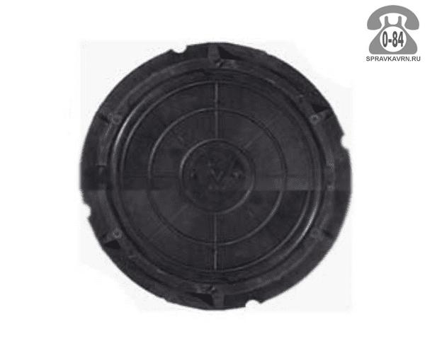 Люк канализационный полимерно-композитный лёгкий 3 т 750 мм чёрный