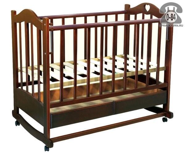Кроватка Ведрусс Лана 2(колесо/качалка, ящик, сердечко), качалка (полозья)