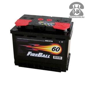 Аккумулятор для транспортного средства Файер Болл (Fire Ball) 6СТ-60 12 В 60 А*час 450 А прямая 242*175*190 15.8 кг легковой Россия