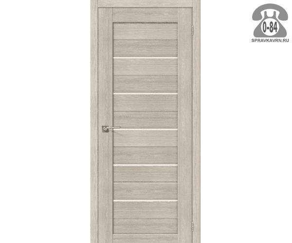Дверь межкомнатная деревянная ЭльПорта, фабрика (el PORTA) Порта-21 цвет: капучино вералинга (cappuccino veralinga) глухая (без стекла) 80см