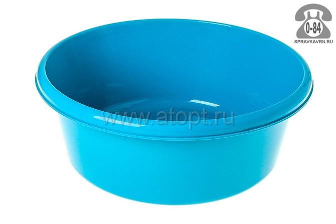 таз пластмассовый круглый 14 л (М 2514) бирюзовый (Идея)