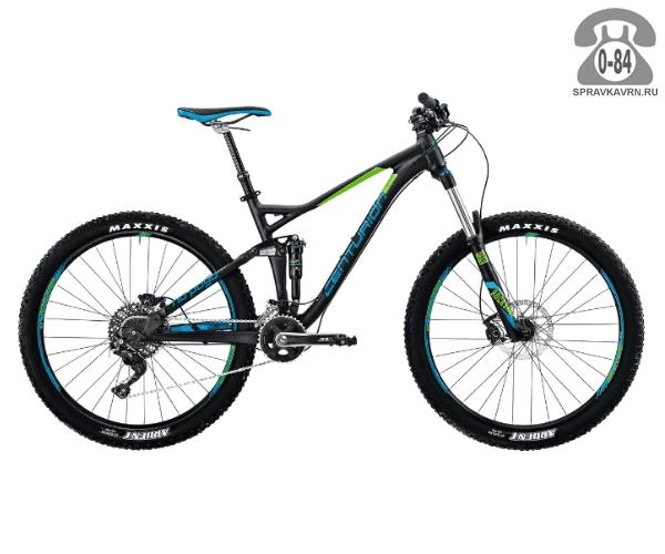 """Велосипед Центурион (Centurion) No Pogo 1000.27 (2017) размер рамы 17.5"""" черный"""