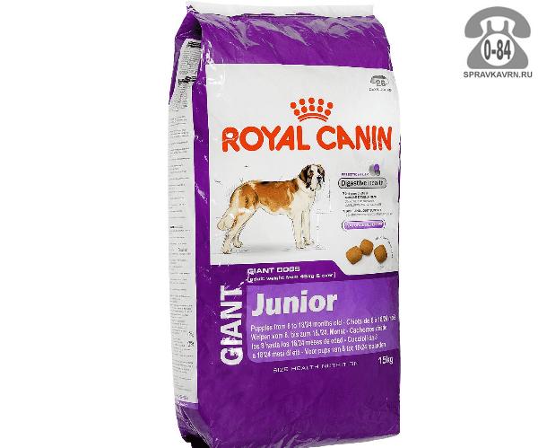 Корм royal canin джайнт эдалт 15 кг