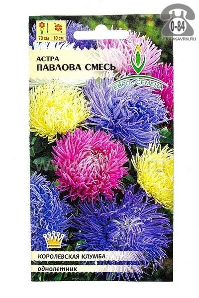 Семена цветов Евро-семена астра Белоснежка однолетник 0,3 г Россия