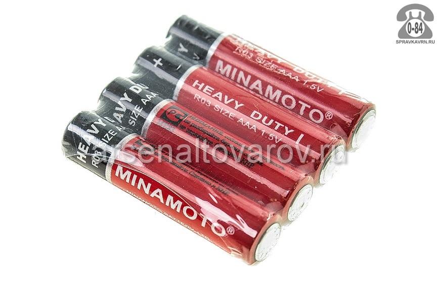 Батарейка Минамото (Minamoto) R03 1.5 В 4 шт. Китай