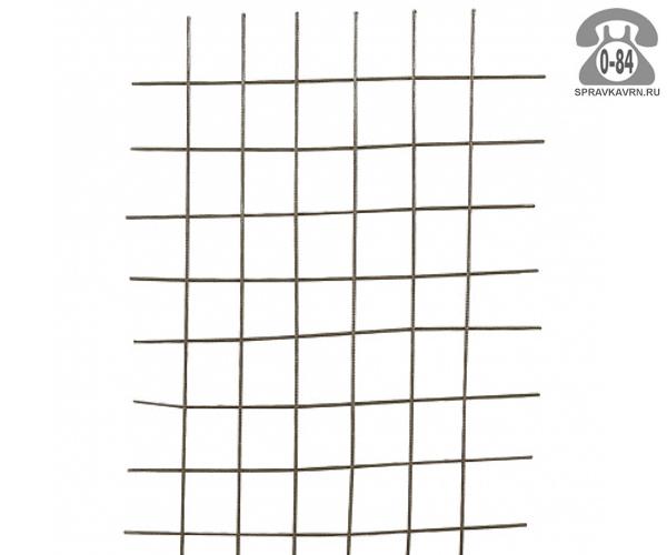 Сетка в картах яч. 55х55х3.6мм, 0.38х2м, неоцинкованная