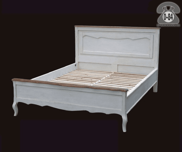 Кровать Белая карамель 2000х1800х1200 2-спальная 2000х1800 мм