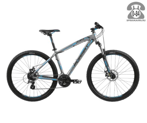 """Велосипед Формат (Format) 1414 27.5 (2017) размер рамы 15.5"""" серый"""