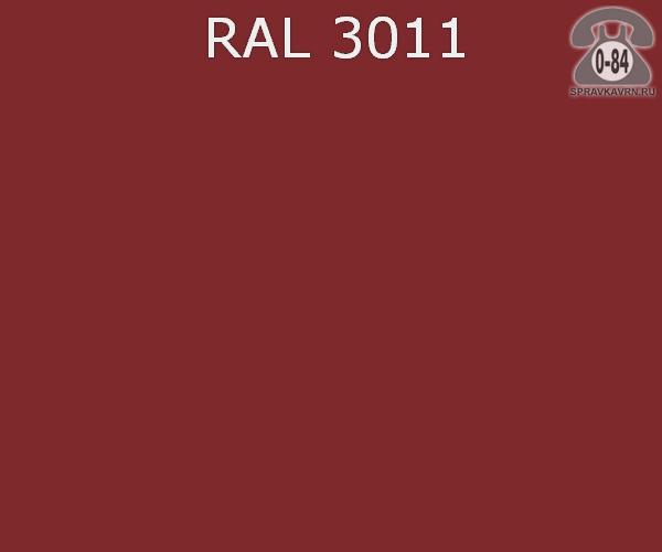 Краска порошковая ФэйХонг (FeiHong) полиэфирная коричнево-красный RAL 3011 Китай