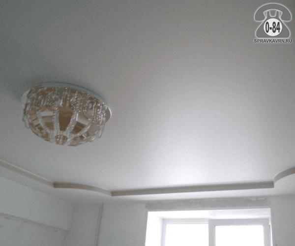 Потолок натяжной Базель (Basell) плёнка ПВХ сатиновый белый 2.7 м шовный Бельгия