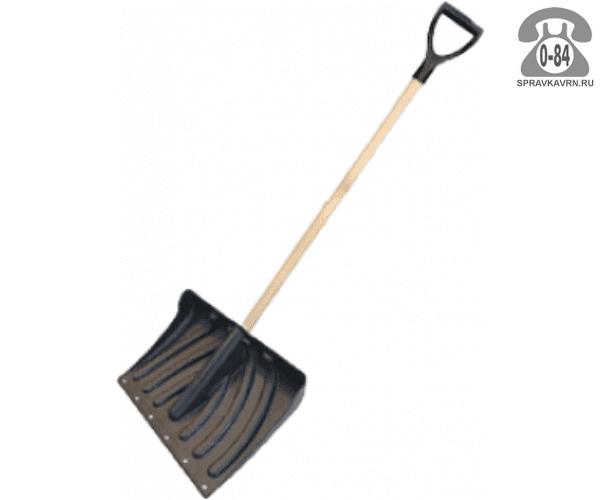 Лопата Крепыш снеговая с деревянным черенком, 340x465мм