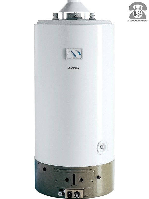 Водонагреватель накопительный газовый Хотпойнт-Аристон (Hotpoint-Ariston) SGA 150 150 л вертикальная напорный (закрытый) эмаль напольный индикация включения с термометром с автоматическим включением с автоматическим выключением с защитой от перегрева газ-контроль с автоподжигом магниевый анод предохранительный клапан