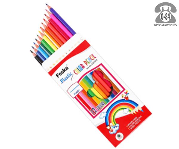 Цветные карандаши CQ1112 цветов 12 картонная коробка