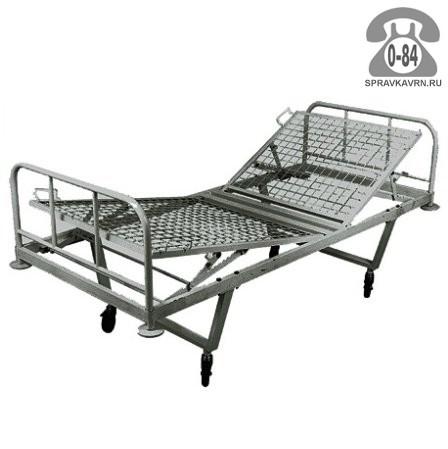 Кровать функциональная медицинская КФ2-01-МСК (МСК-102) двухсекционная 150 кг 2050 мм 900 мм 900 мм 45 градус 30 градус 100 мм
