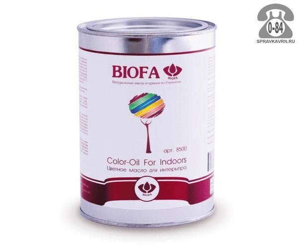Мастика Биофа (Biofa) Color-Oil For Indoors 1л грецкий орех