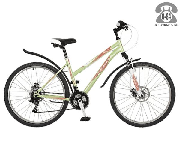 """Велосипед Стингер (Stinger) Latina D 26 (2017), рама 15.5"""", зеленый размер рамы 15.5"""" зеленый"""