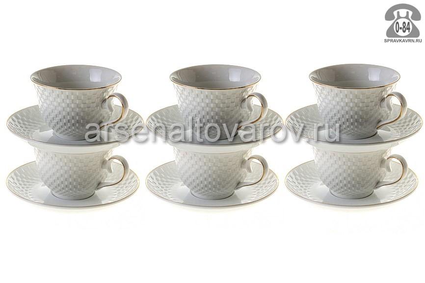 Чайный сервиз Даникс (Daniks) Кембридж керамика, количество предметов: 12