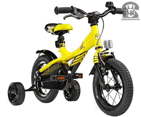 Велосипед Скул (Scool) XXlite 12 alloy (2017), желтый