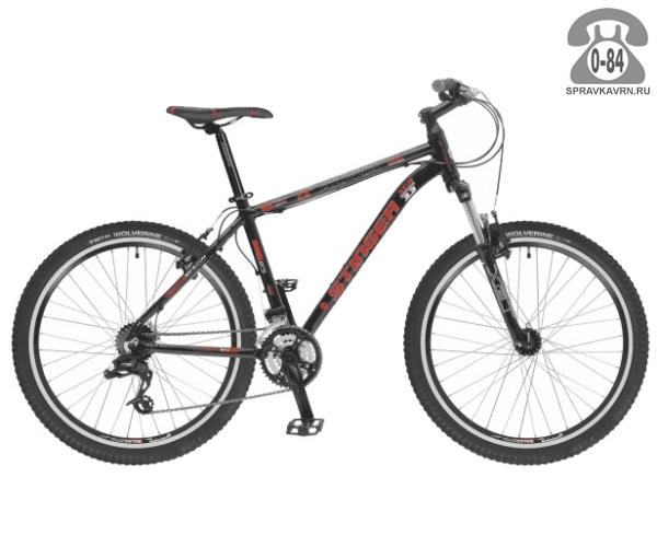 """Велосипед Стингер (Stinger) Alpha 3.3 26 (2016), рама 16.5"""" размер рамы 16.5"""" черный"""