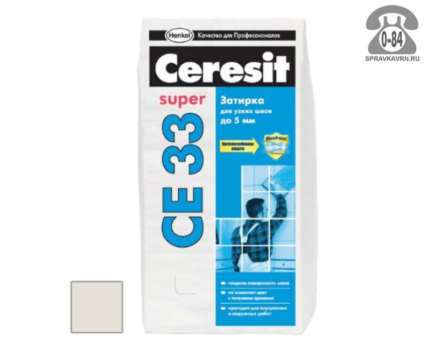Затирка для плитки Церезит (Ceresit) CE33 Super, жасмин, 2 кг