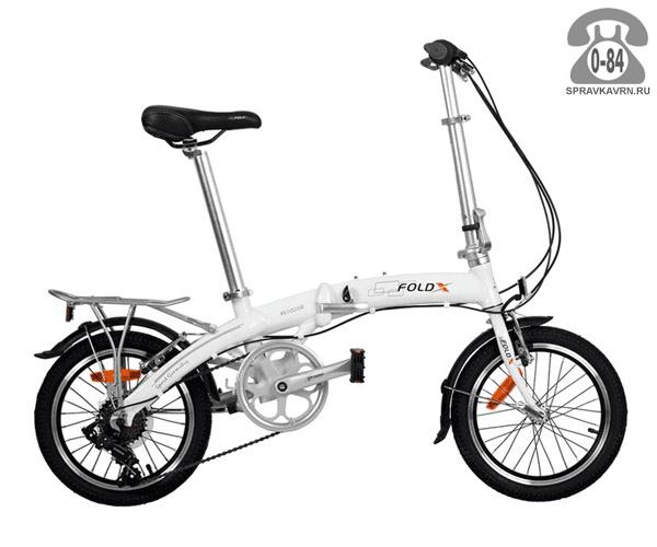 Велосипед FoldX Twist (2017) складной белый
