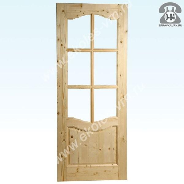 Дверь межкомнатная деревянная распашная массив сосны