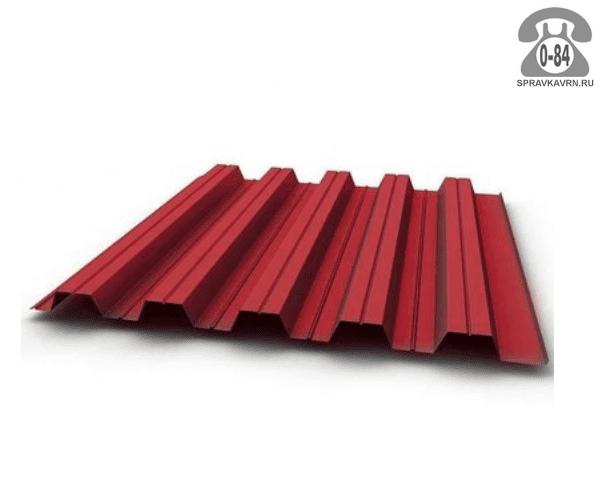 Профнастил С35 винно-красный  1035x0.5 мм лакокрасочное (окрашенный)
