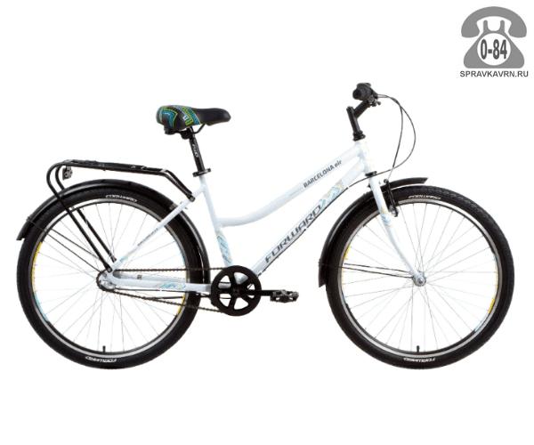 """Велосипед Форвард (Forward) Barcelona Air 2.0 (2017) размер рамы 17.5"""" белый"""