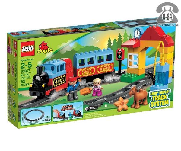 Конструктор Лего (Lego) Duplo 10507 Мой первый поезд, количество элементов: 52