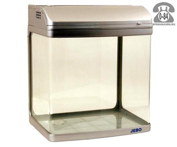 Аквариум Джебо (Jebo) R208 серебряный 142 л
