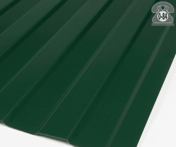 Профнастил С8 зелёный мох  1200x0.5 мм полимерное