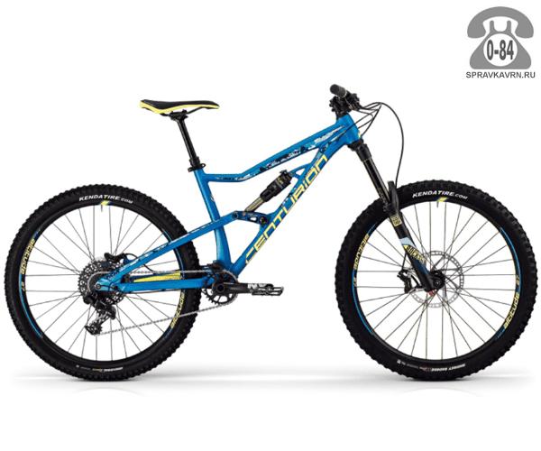"Велосипед Центурион (Centurion) Trailbanger 1000.27 (2017) размер рамы 17.5"" голубой"