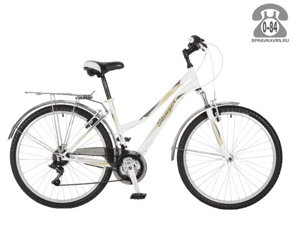 "Велосипед Стингер (Stinger) Victoria 26"" (2017), рама 15.5"" размер рамы 15.5"" белый"