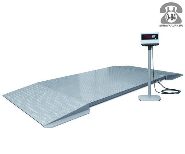 Весы товарные ВП-10т-200х200 Стандарт К платформа 2000*2000мм 10000кг точность 5000г