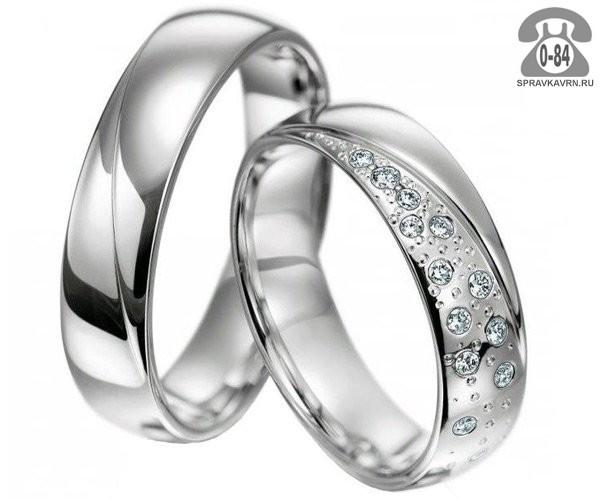 Кольцо обручальное кольцо белое золото