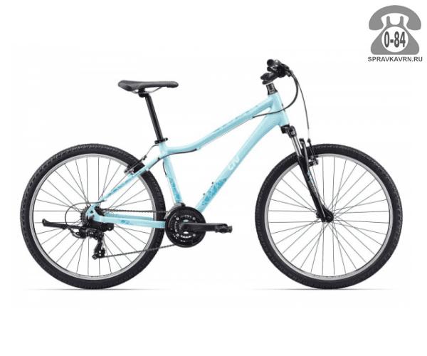 "Велосипед Джайнт (Giant) Enchant (2017), рама 16.5"", синий размер рамы 16.5"" синий"